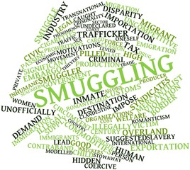 Word cloud for Smuggling