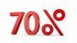 70%_das %zeichen dreht sich um die senkrechte Achse - 3D Video