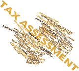 Word cloud for Tax assessment poster