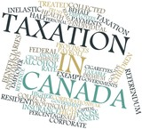 Word cloud for Taxation in Canada