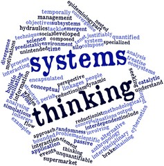 Word cloud for Systems thinking