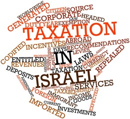 Word cloud for Taxation in Israel