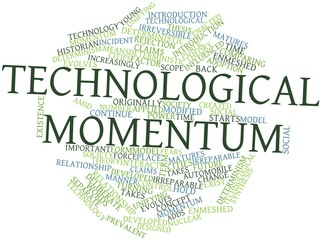 Word cloud for Technological momentum