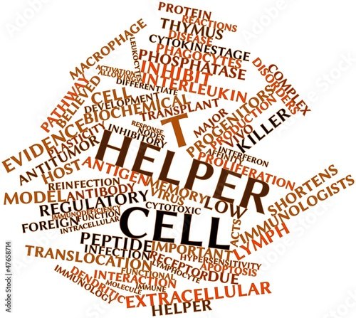 Word cloud for T helper cell