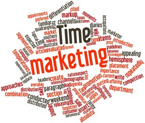 Word cloud for Time marketing