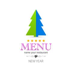 kitchen colored tree menu logo icon
