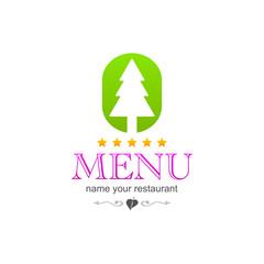 kitchen colored tree menu icon logo