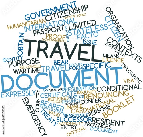 Word cloud for Travel document