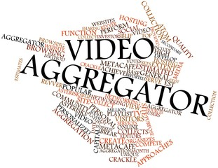 Word cloud for Video aggregator