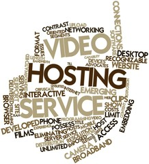 Word cloud for Video hosting service