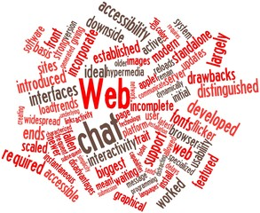 Word cloud for Web chat