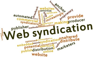 Word cloud for Web syndication