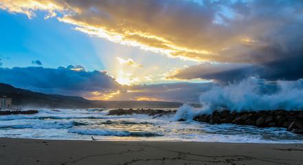 tramonto in spiaggia
