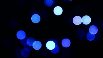 Abstract blue blinking lights.