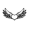 Heart tattoo. Vector.