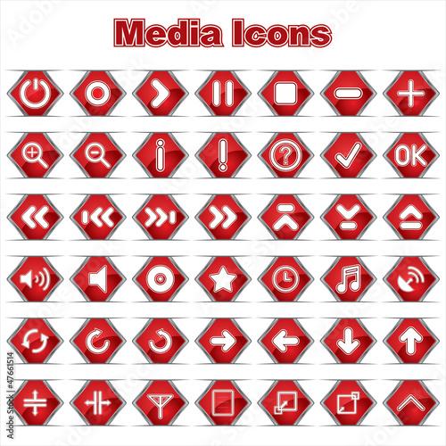 Set of Media/Music Icons