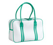 white and green sport bag