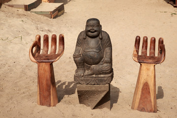 Buddha sat in the sand, Skiathos