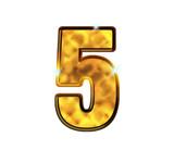 5 - cinq - Chiffre de luxe en or