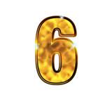 6 - six - Chiffres de luxe en or