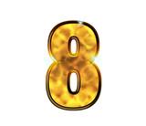 8 - huit - Chiffre de luxe en or