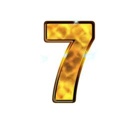 7 - sept - Chiffre de luxe en or