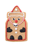 Santa Gingerbread Man cookie