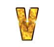 V - Alphabet lettre de luxe en or