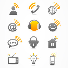 Business signal collection icon logo