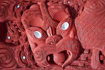 Maori carving - Rotorua, New Zealand