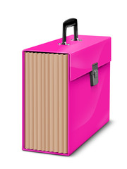 BRIGHT PINK FILING BOX