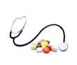Stetoskop und Medikamente