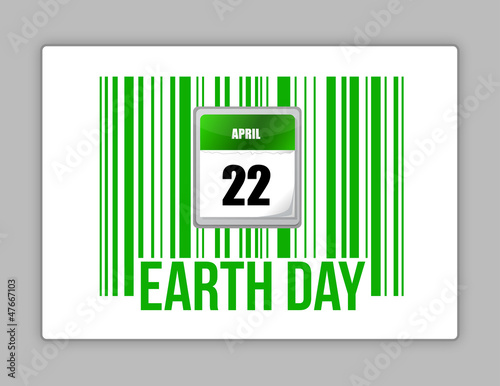 nature barcode and Earth day