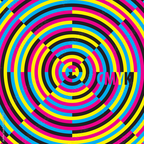 CMYK (cyan, magenta, yellow, black), moire effect