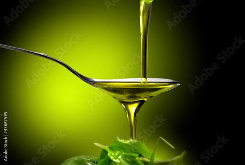 Leinwandbild Motiv olio e insalata