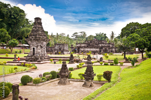 Candi Penataran temple in Blitar on Java,  Idonesia.