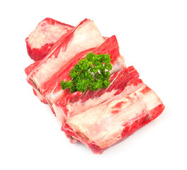 meat edges with spices