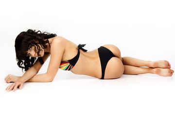 Beautiful and sexy woman wearing swimsuit.