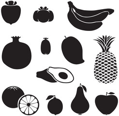Silhouette fruits