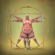 Anatomía de Hombre Obeso de Vitruvio