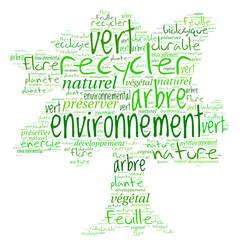 Nuage de Mots : Arbre Environnement,