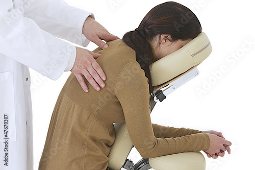 Massage relaxant sur le lieu de travail