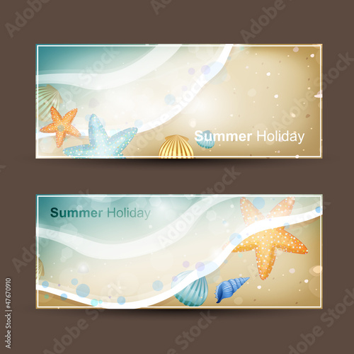Vector Illustration of TwoHoliday Banners