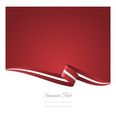 Abstract color background Latvian flag vector