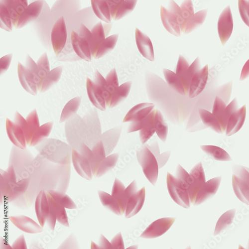 Fototapeta Pink tulips / Romantic seamless background