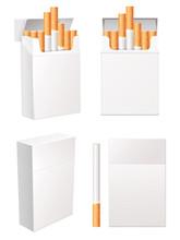 Kolekcja puste paczki papierosów. Vector eps 10. Zestaw