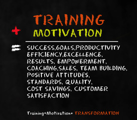 Trainng and motivation