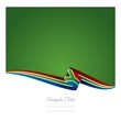 Abstract color background South African flag vector