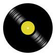 Leinwandbild Motiv Illustration of a vinyl disk