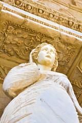 Statue of Arete at Celcus library in Ephesus